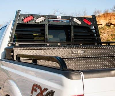 "Roughneck - Roughneck Bolt On Rail Full Angle 23"" Toolbox Cut Tie Rail 8' Long Bed (BHRTBLB-DB)"