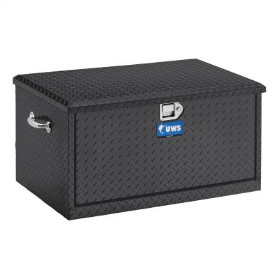 UWS - UWS 38in. Aluminum Chest with 2 Drawer Slides Black (TBC-38-DS-BLK)