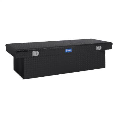 UWS - UWS 72in. Aluminum Single Lid Crossover Toolbox Deep Extra Wide Black (TBSD-72-LBTA-BLK)