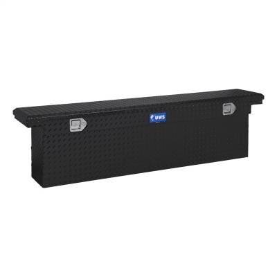 UWS - UWS 72in. Aluminum Single Lid Crossover Toolbox Deep Slim Line Low Profile Black (TBSD-72-SL-LP-BLK)