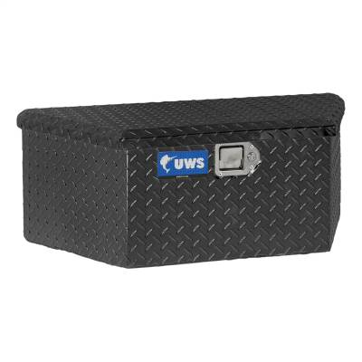 UWS - UWS 34in. Aluminum Trailer Chest Box Chest Low Profile Black (TBV-34-LP-BLK)