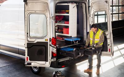 Decked - DECKED Cargo Van Storage System 14-Pres Ford Transit 130 Inch (VNFD13TRAN55-FXWQ)