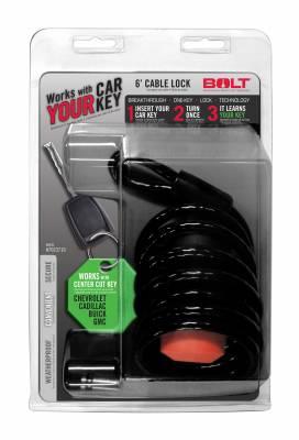 BOLT - BOLT 6FT. CABLE LOCK GM CENTER CUT 7023719