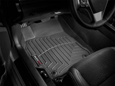 Weathertech - FloorLiner(TM) DigitalFit(R)  Black; Over The Hump; Fits Vehicles w/Side Floor Hooks On The Drivers/Passenger Side; w/Armrest Console