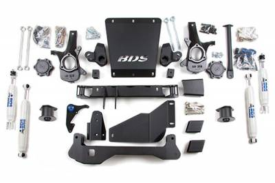 BDS - BDS Suspension Lift Kit - 4in Front/3.5in Rear Coil Spacer (191H)
