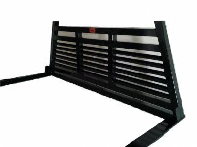 Roughneck - Roughneck Headache Rack 1 Piece Welded Short Angle Full Louver (BHRSAFL-F)