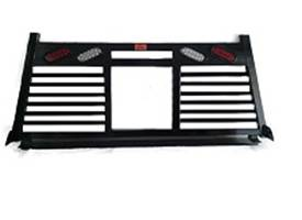 Roughneck - Roughneck Headache Rack 1 Piece Welded Short Angle Split Louver With Lights (BHRSASLWL-F150)