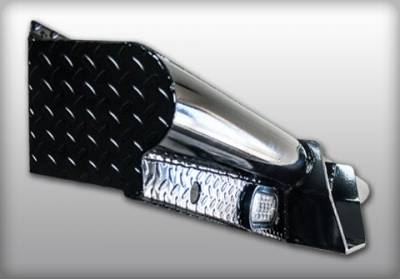 "Roughneck - Roughneck Pipe Style Rear Bumper 10"" Drop With Backup Lights (BRBRC11HD10L)"