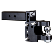 B&W - B&W Tow & Stow 8.5in Drop/4.5in Rise W/2in Ball Class V 2 1/2in Receiver/Pintle Black (TS20055)