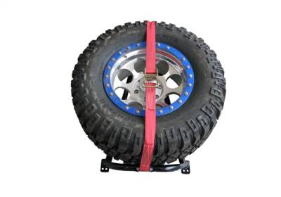 N-Fab - NFAB  Tire Carrier, Bed Mount Rapid Strap, Textured Black