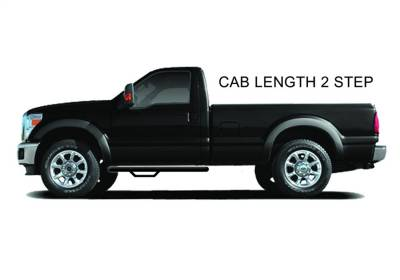 N-Fab - N-Fab  Nerf Step Cab Length Textured Black
