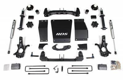 BDS - BDS Suspension Lift Kit - 4in Front/2in Rear Block (713H)