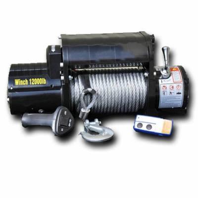 DV8 Offroad - DV8 - 12K LB.   Winch   w/ Steel cable and Wireless Remote    (WB12SC)