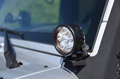 """DV8 Offroad - DV8 - 3.5""""  LED   Round  16W   Driving Light   Spot   3W   Black   (R3.5E16W3W)"""