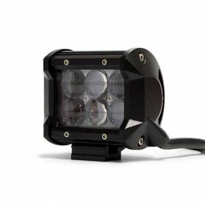"DV8 Offroad - DV8 - 4""  LED  Cube  Light  18W Spot   3W Chrome   (B4CE18W3W)"