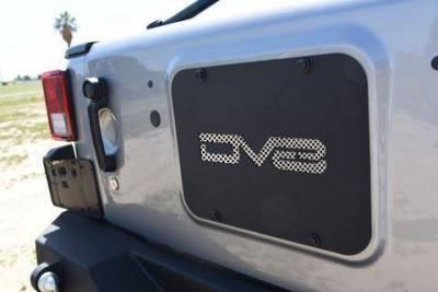 DV8 Offroad - DV8 - Tramp Stamp  Rear Tailgate   Cover Plate 2007-2018 Wrangler JK (TS01RJK)