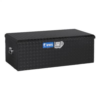 Aluminum - UWS Chest Boxes Aluminum - UWS - UWS Aluminum Foot Locker Storage Box Black (FOOT-LOCKER-BLK)
