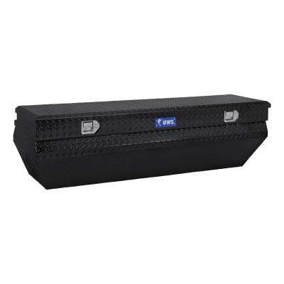 Aluminum - UWS Chest Boxes Aluminum - UWS - UWS 55in. Aluminum Chest Box Wedge Notched Black (TBC-55-WN-BLK)