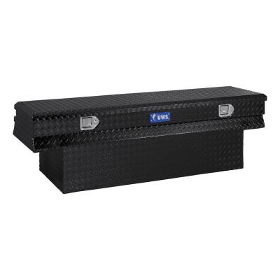Aluminum - UWS Chest Boxes Aluminum - UWS - UWS 60in. Aluminum Chest Box Notched Black (TBC-60-N-BLK)