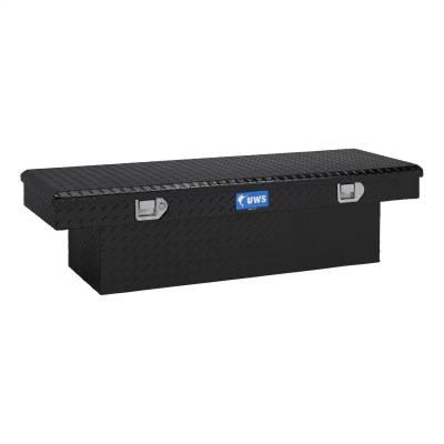 Aluminum - UWS Cross Boxes Aluminum - UWS - UWS 54in. Aluminum Single Lid Crossover Toolbox Black (TBS-54-BLK)