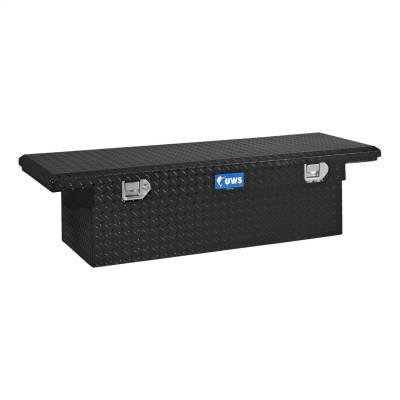 Aluminum - UWS Cross Boxes Aluminum - UWS - UWS 54in. Aluminum Single Lid Crossover Toolbox Low Profile Black (TBS-54-LP-BLK)