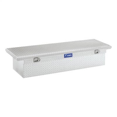 Aluminum - UWS Cross Boxes Aluminum - UWS - UWS 66in. Aluminum Single Lid Crossover Toolbox Low Profile (TBS-66-LP)
