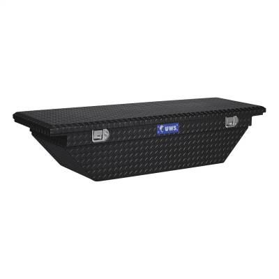 UWS - UWS 69in. Aluminum Single Lid Crossover Toolbox Low Profile Angled Black (TBS-69-A-LP-BLK)