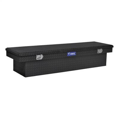 Aluminum - UWS Cross Boxes Aluminum - UWS - UWS 69in. Aluminum Single Lid Crossover Toolbox Matte Black (TBS-69-MB)