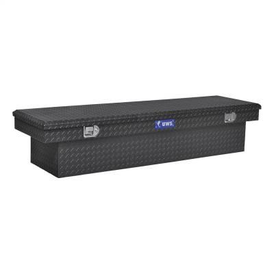 Aluminum - UWS Cross Boxes Aluminum - UWS - UWS 72in. Aluminum Single Lid Crossover Toolbox Black (TBS-72-BLK)