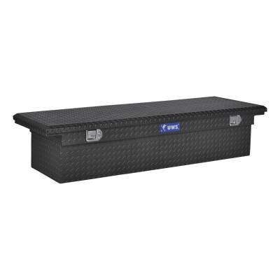 Aluminum - UWS Cross Boxes Aluminum - UWS - UWS 72in. Aluminum Single Lid Crossover Toolbox Low Profile Matte Black (TBS-72-LP-MB)