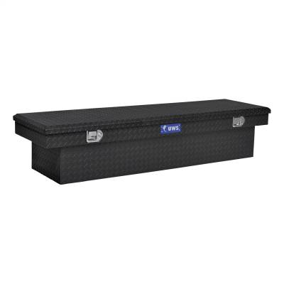 Aluminum - UWS Cross Boxes Aluminum - UWS - UWS 72in. Aluminum Single Lid Crossover Toolbox Matte Black (TBS-72-MB)