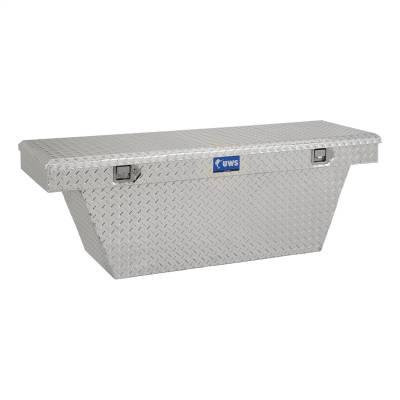 Aluminum - UWS Cross Boxes Aluminum - UWS - UWS 63in. Aluminum Single Lid Crossover Toolbox Deep Angled (TBSD-63A)