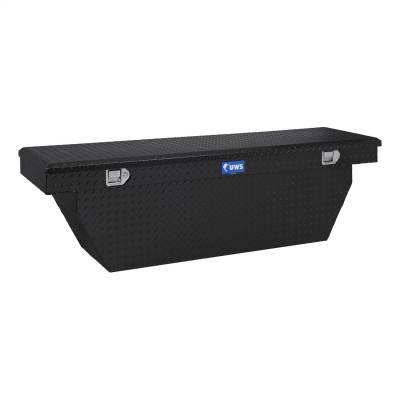 Aluminum - UWS Cross Boxes Aluminum - UWS - UWS 69in. Aluminum Single Lid Crossover Toolbox Deep Angled Black (TBSD-69-A-BLK)