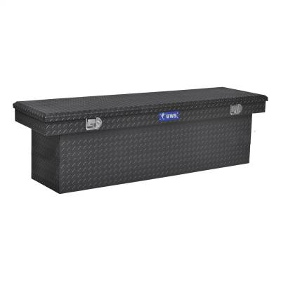 Aluminum - UWS Cross Boxes Aluminum - UWS - UWS 69in. Aluminum Single Lid Crossover Toolbox Deep Black (TBSD-69-BLK)
