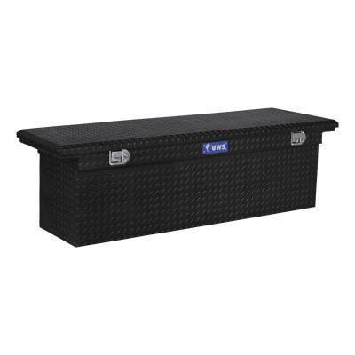 Aluminum - UWS Cross Boxes Aluminum - UWS - UWS 69in. Aluminum Single Lid Crossover Toolbox Deep Low Profile Black (TBSD-69-LP-BLK)