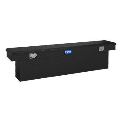 Aluminum - UWS Cross Boxes Aluminum - UWS - UWS 69in. Aluminum Single Lid Crossover Toolbox Deep Slim Line Black (TBSD-69-SL-BLK)