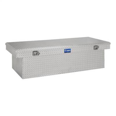 Aluminum - UWS Cross Boxes Aluminum - UWS - UWS 72in. Aluminum Single Lid Crossover Toolbox Deep Extra Wide (TBSD-72-LBTA)