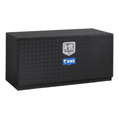 Aluminum - UWS Under Body Boxes Aluminum - UWS - UWS 36in. Aluminum Underbody Tool Box Single Door Black (TBUB-36-BLK)
