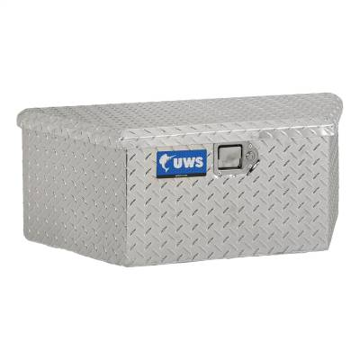 Aluminum - UWS Chest Boxes Aluminum - UWS - UWS 34in. Aluminum Trailer Chest Box Chest Low Profile (TBV-34-LP)
