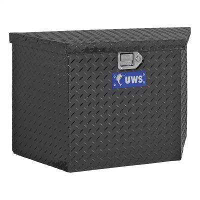 UWS - UWS 49in. Aluminum Trailer Chest Box Chest Black (TBV-49-BLK)