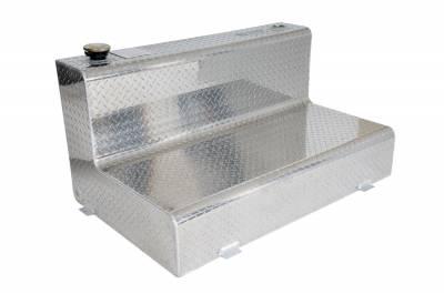 L Shape Tanks - DeeZee L Shape Tanks Aluminum - Dee Zee - DEE ZEE TOOL BOX-SPECIALTY TANK BT ALUM (DZ91768X)
