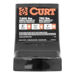 Ball Mounts - Curt Ball Mounts - CURT - CURT 2in. Drop Ball Mount; 8-1/4in. Shank (BKDK-45830)
