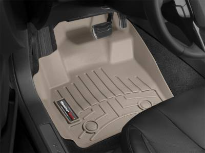 Weathertech - FloorLiner(TM) DigitalFit(R)  Tan; Fits Vehicles w/Footrest In Left Corner; Does Not Fit Vehicles w/Manual 4x4 Shifter