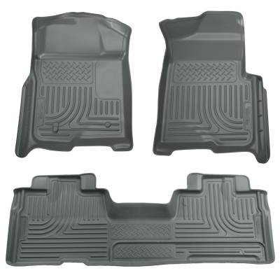 Floor Mats - Husky Floor Mats - Husky Liners - HUSKY  WeatherBeater Series  Front & 2nd Seat Floor Liners  Left Hand Drive Only