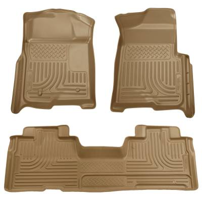 Floor Mats - Husky Floor Mats - Husky Liners - HUSKY  WeatherBeater Series  Front & 2nd Seat Floor Liners (Footwell Coverage)  Black