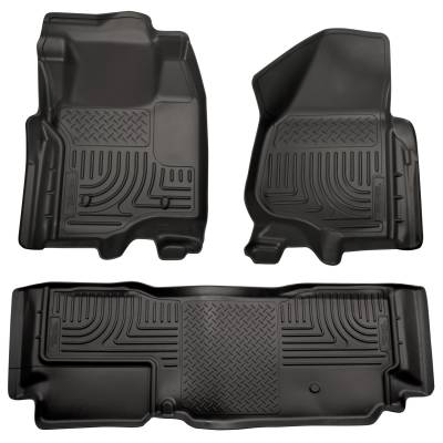 Floor Mats - Husky Floor Mats - Husky Liners - HUSKY  WeatherBeater Series  Front & 2nd Seat Floor Liners