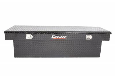 Aluminum - DeeZee Cross Boxes Aluminum - Dee Zee - DEE ZEE TOOL BOX-RED CROSSOVER-SINGLE LID BLACK BT (DZ8170DB)