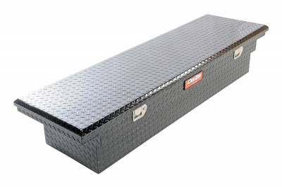 Aluminum - DeeZee Cross Boxes Aluminum - Dee Zee - DEE ZEE TOOL BOX-RED CROSSOVER-SINGLE LID BLACK BT (DZ8170LB)