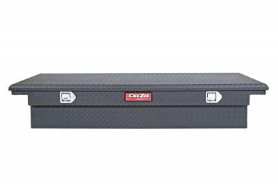 Aluminum - DeeZee Cross Boxes Aluminum - Dee Zee - DEE ZEE TOOL BOX-RED CROSSOVER-SINGLE LID BLACK BT (DZ8170LTB)