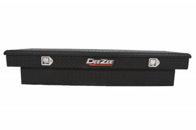 Aluminum - DeeZee Cross Boxes Aluminum - Dee Zee - DEE ZEE TOOL BOX-RED CROSSOVER-SINGLE LID BLACK BT (DZ8170TB)